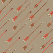 Vector seamless colorful ethnic pattern with arrows — Stockvektor