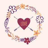 Vector vintage floral frame. Can be used for wedding, Valentine' — 图库矢量图片