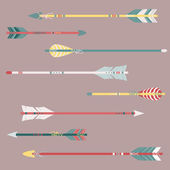 Vector set of colorful ethnic arrows — Stock Vector