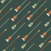 Vector colorido étnico de patrones sin fisuras con flechas — Vector de stock