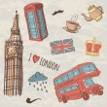 Vector colorful set of hand-drawn London symbols — Stock Vector #38471615