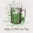 Vector hand drawn beer mug for St. Patrick's Day — Stock Vector #39622523