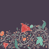 Vector vintage floral background — Vector de stock