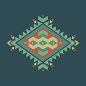 Vector colorful decorative ethnic pattern — Stockvektor