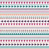 Vector seamless pattern with hearts, lines, arrows — Stock Vector
