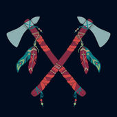 Vector illustration of native American indian tomahawks — Vecteur