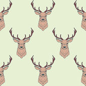Vector seamless pattern with deer — Stock Vector