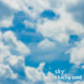 Vector background with blue sky and clouds — Stock Vector
