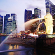 Singapore downtown panorama — Stock Photo
