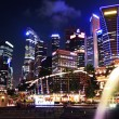 singapore downtown — Stock Photo