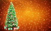 Fir-tree with place — Stock Photo