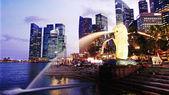 Singapore downtown panorama — Stock Photo