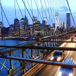 brooklyn bridge traffic — Stock Photo