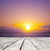Sun over ocean — Stock Photo