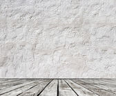 Floor and concrete wall — Stock Photo