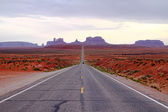 Road in a desert — Stock Photo