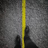 Nohy jsou na silnici — Stock fotografie