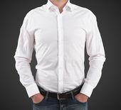 Man in white t-shirt — Stock Photo
