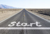 Start sign — Stock Photo