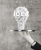 Plate with lightbulb — Stock Photo