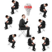 Many businessman — Stock Photo