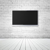 Blank wide screen TV — Stock Photo