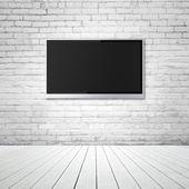 Blank wide screen TV — Stock Photo