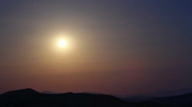 Moonrise in Death Valley, — Stock Video
