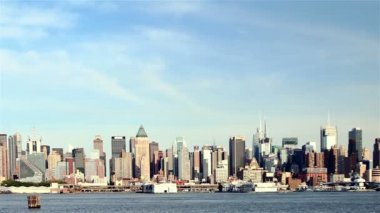 Manhattan skyline — Vídeo de stock