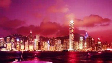 Horizonte de hong kong — Vídeo de stock