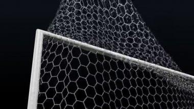 射击的足球门的一个目标 — 图库视频影像