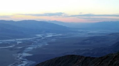 Death Valley at sunset — Stok video