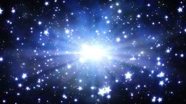 Flight through stars — Stock Video