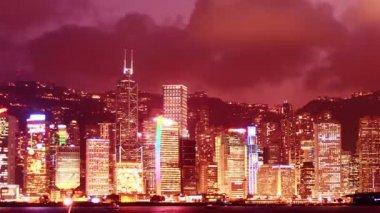 Hong kong gökdelenler — Stok video