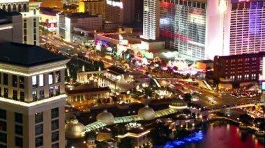 Las Vegas at night — Vídeo Stock