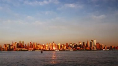 View of Manhattan skyline from New Jersey — Video Stock