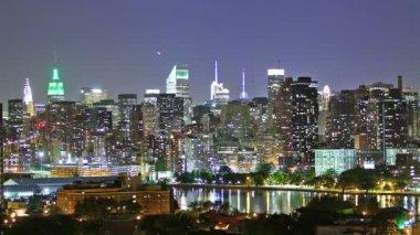 マンハッタンの夜 — ストックビデオ