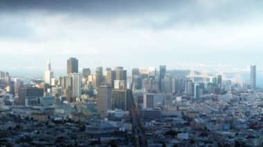 San Francisco skyline from Twin Peaks — Stock Video