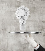Plate with lamp — Stock Photo