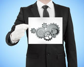 Placard with gears — Stockfoto
