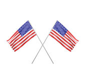 Two crossed  Flag of USA — Stock Photo