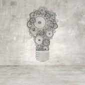 Drawing lamp with gears — Stock Photo