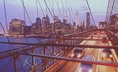 Brooklyn köprüsü trafiği — Stok fotoğraf