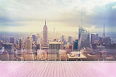 New York city view from roof — Stock Photo