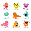 Cute little monsters — Stock Vector