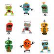Cute little robots — Stock Vector