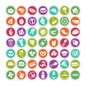 Icons set of many food — Stock Vector