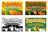 Vintage vegetable crate labels — Stock Vector
