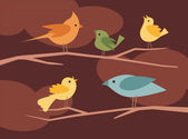 Vector bird set 6 — Stock Vector