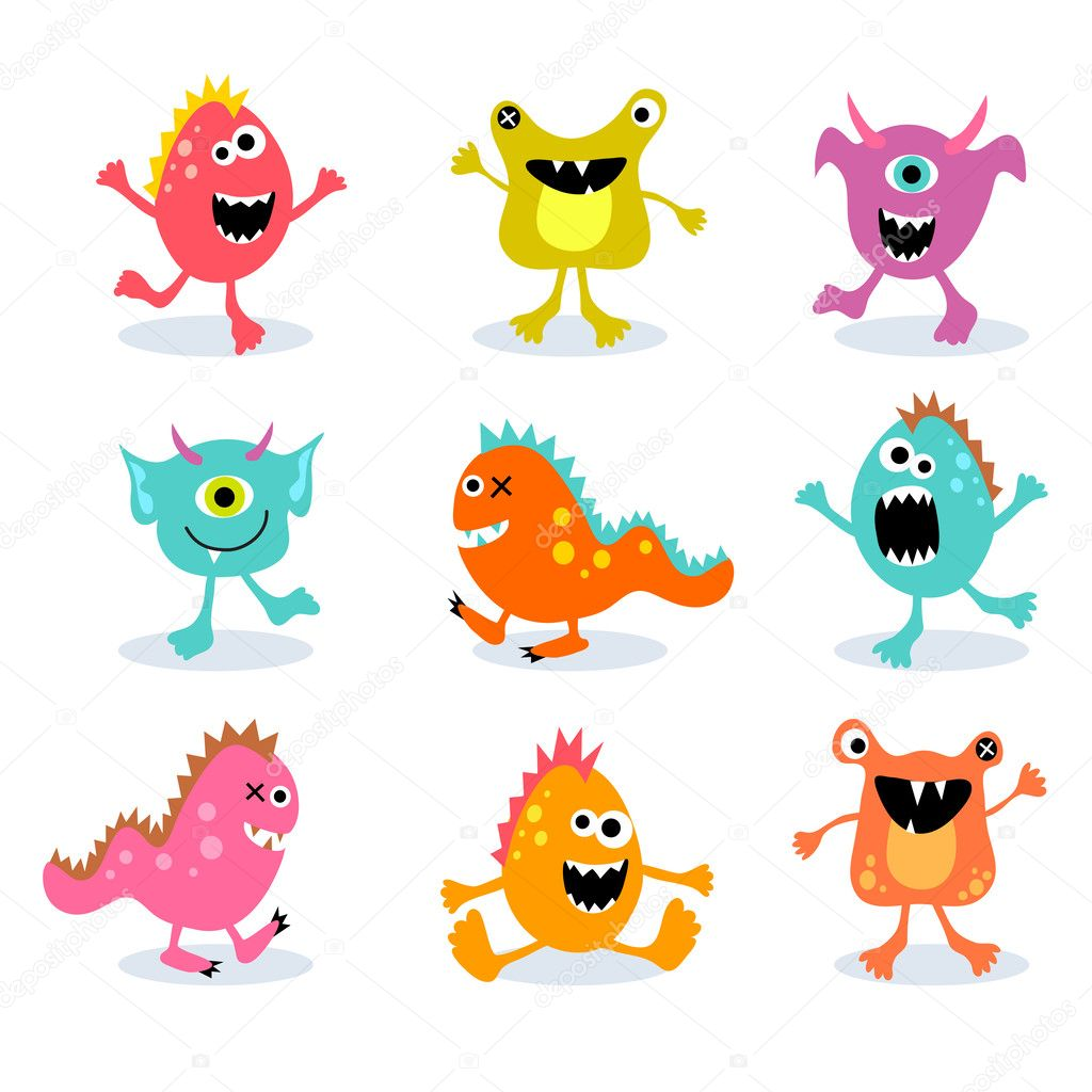 cute little monsters stock vector teddyandmia 29668517